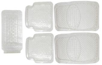 Bộ thảm lót sàn nhựa trong xe ô tô 4-5 chỗ TI234(Trong suốt)