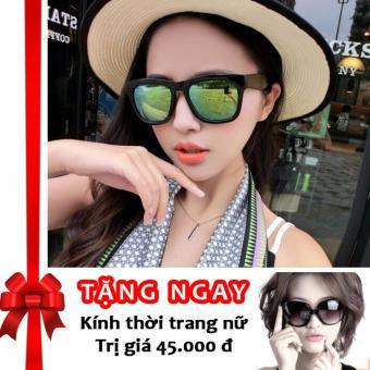 Siêu khuyến mãi mua 1 tặng 3 – Tặng 01 kính thời trang cao cấp và 02 bao da khi mua kính thời trang nữ phản quang cực Korea F146 (Xanh lam)