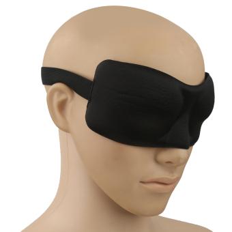 BolehDeals 3D Travel Air Plane Sleeping Eye Mask Shade Cover Nose Pad Blindfold Black - intl