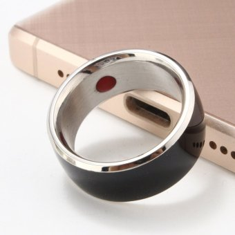 JAKCOM R3F Black Magic Wearable Smart Ring For Android WP Mobile Phone With NFC Size 11 - intl
