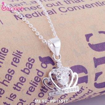Mặt dây chuyền trang sức bạc Ý S925 Bạc Xinh -Vương miện đẹp PP1151