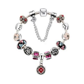 Vòng đeo tay mạ bạc trang sức hạt charms cao cấp Jewelry Queen Victoria Charm Panda DZ62 (Bạc)