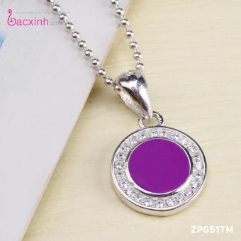 Mặt dây chuyền nữ trang sức bạc Ý S925 Bạc Xinh Hình tròn ZP051