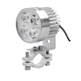 Đèn pha trợ sáng 4 LED dành cho xe mô tô, xe điện + Giá đỡ