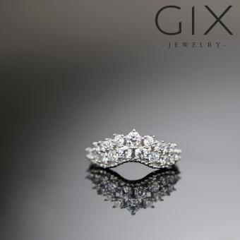 Nhẫn bạc nữ trang sức đẹp vương miện chùm Gix Jewelry SPR-0025 (Trắng)