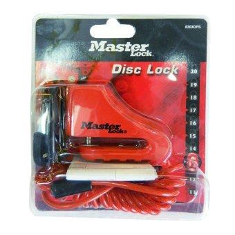 Khóa đĩa xe máy Master Lock 8303DPS (Đỏ)