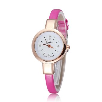 Đồng hồ nữ dây da tổng hợp YUHAO YU003-4 (Hồng)