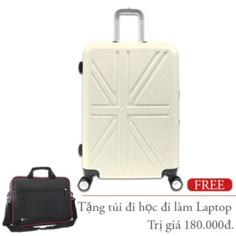 Vali kéo du lịch nhựa cứng khung nhôm loại trung 20Kg màu trắng TA267