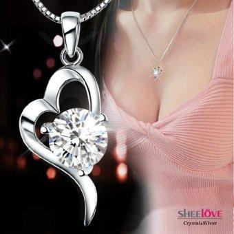 Dây chuyền trái tim đính đá sang trọng thời trang hàn quốc HKN-A03