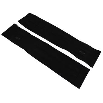 Găng tay chống nắng UV xỏ ngón Lets Slim (Đen)