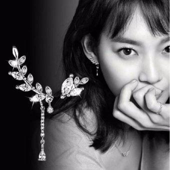 Bông tai chiếc lá phong cách Hàn Quốc