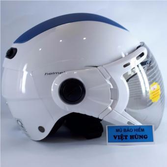 Mũ bảo hiểm GRS A102K (Trắng phối xanh)