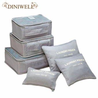 Bộ 6 túi du lịch chống thấm Bags in Bag (xám)