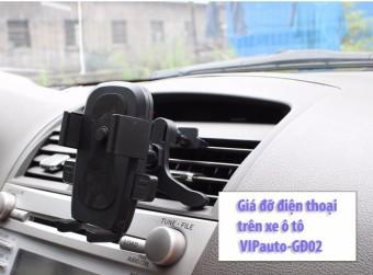 Giá đỡ điện thoại trên xe ô tô VIPauto-GĐ02 - Đen phối đỏ