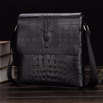 Cặp túi đeo chéo da vân cá sấu sành điệu( đen)