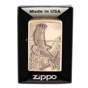 Mua Bật lửa Zippo Lighter Where Eagles Dare Emblem, Brushed Brass (Vàng) 20854 giá tốt nhất