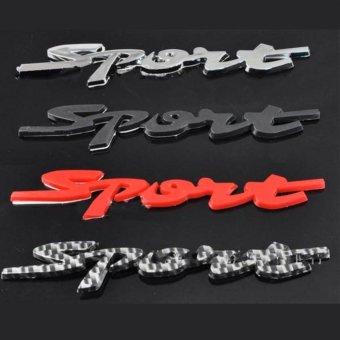 Chữ SPORT 3D dán ô tô màu trắng -AL