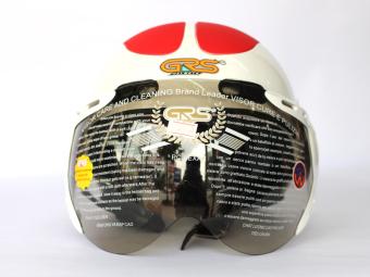 Mũ bảo hiểm GRS A102K (Trắng đỏ)