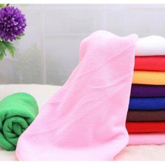 Mua Bộ 5 khăn lau ô tô Micro Fiber siêu mịn GK-368 kích cỡ 30x60cm (Hồng nhạt) giá tốt nhất