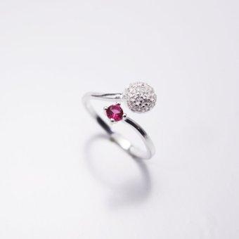 Nhẫn bạc nữ Bạc Xinh S925 Italia RR1284 (Đỏ)