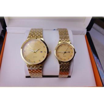 Đồng hồ đôi thiết kế kim loại cao cấp.