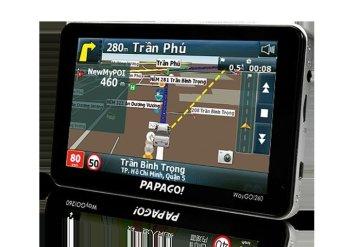 Thiết bị dẫn đường GPS cho ô tô Papago! Waygo260 (Đen)