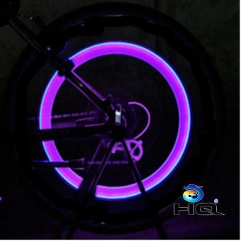 Bộ 2 Đèn LED gắn van đổi màu cho bánh xe máy ô tô HQ STORE 1TI31-2C(hồng)
