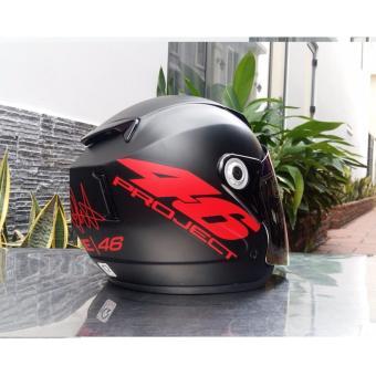 Mũ Bảo Hiểm Moto Napoli tem số 46 đỏ (kính trong )