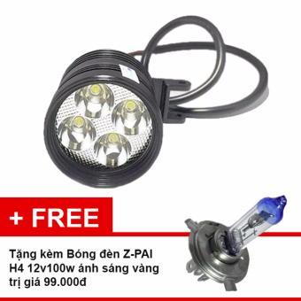Đèn pha led Thanh Khang trợ sáng L4 CYT-T1 gắn xe máy + tặng Bóng Đèn Z-PAI H4 12v100w siêu sáng tiêu chuẩn ánh sáng vàng dành cho xe máy
