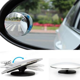 Bộ 2 gương cầu xóa điểm mù siêu mỏng xoay 360 dành cho xe ô tô (Trắng)
