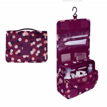 Túi đa năng chống thấm Toiletry nhiều ngăn (Đỏ)
