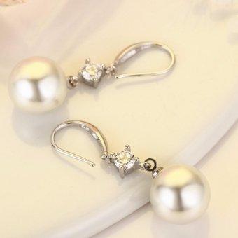Bông tai bạc 925 - ngọc trai thời trang MDL-BT03