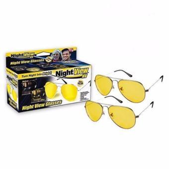 Bộ 2 Kính đi đường ban đên Night View Glasses (Vàng)