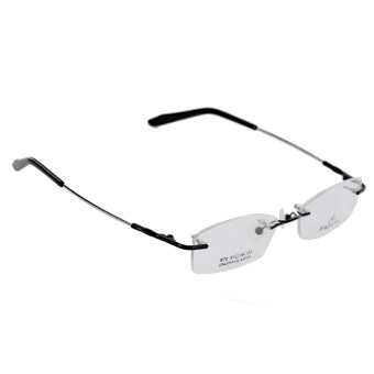 Memory Metal Rimless Glasses Eyeglasses Spectacles Frame Black - Intl