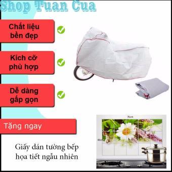 Bạt phủ xe máy ( Ghi ) + Tặng giấy dán tường bếp