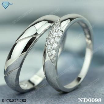 Nhẫn đôi nhẫn cặp bạc đẹp ND0098