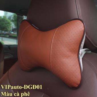 Đệm gối đầu ghế xe ô tô VIPauto-ĐGĐ01 (cà phê)