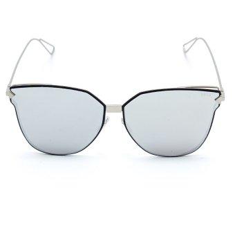 Bộ 1 kính mát nam và 1 chai nước rửa kính PAN XL7777 (Trắng tráng gương)
