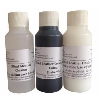 Bộ phục hồi da màu đen bị bạc màu - Leather Black Kit