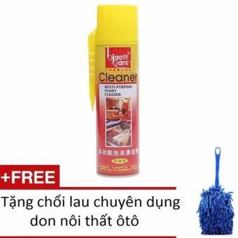 Dầu thơm lau bóng sạch nội thất Biaobang 620ml + Tặng 1 chổi lau nội thất xe chuyên dụng HH582