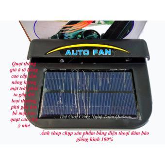 Quạt thông gió không khí trên oto sử dụng nguồn năng lượng mặt trời hàng cao cấp