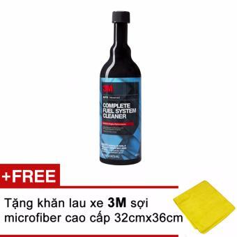 Xúc pét xăng - 3M Complete Fuel System Cleaner 08813 473ml (Đen) + Tặng kèm khăn 3M