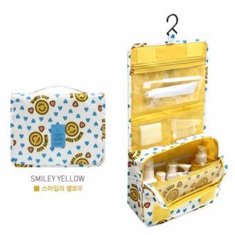 Túi đựng đồ du lịch cá nhân đa năng có móc treo phong cách Hàn Quốc (Vàng, mặt cười)