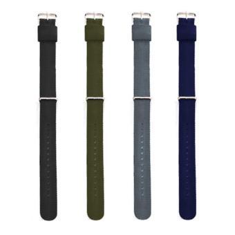 Bộ 4 dây đồng hồ nữ vải dù Wendy đơn sắc COMBO DS-NU-4A