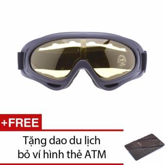 Kính Chống Bụi UV400 đi phượt + Tặng dao du lịch hình thẻ ATM