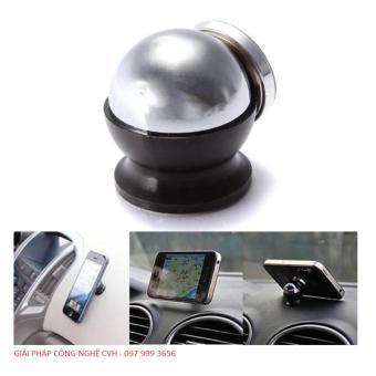 Trọn Bộ hít nam châm giá đỡ điện thoại trên xe hơi, ô tô 360 độ (Đen)