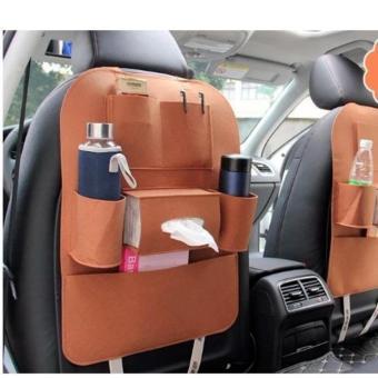 Túi bao đựng đồ tiện ích 6 ngăn sau ghế ô tô (Da bò)