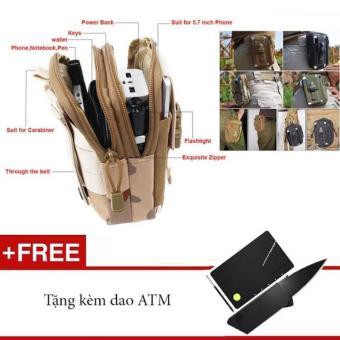 Túi đeo hông đi phượt ( Tặng kèm dao ATM)