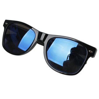 Bluelans Unisex Mercury Mirror Shade UV Protection Sunglasses Glasses Blue