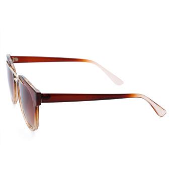 Retro Ladies Round Frame Gradient Sunglasses(NO.4) - intl